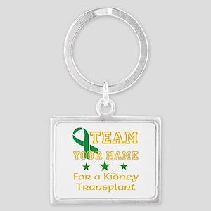 Personalize team Kidney Landscape Keychain
