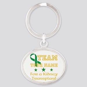 Personalize team Kidney Oval Keychain