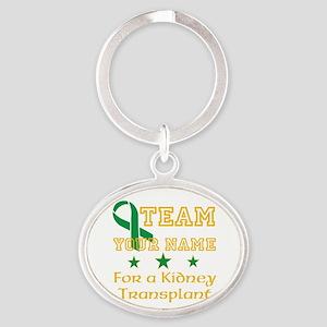 Personalize team Kidney Oval Keychain