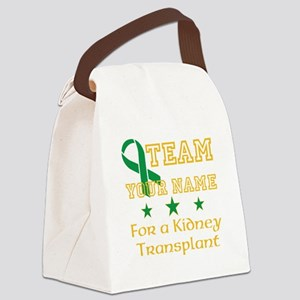 Personalize team Kidney Canvas Lunch Bag