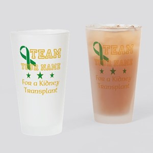 Personalize team Kidney Drinking Glass