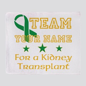 Personalize team Kidney Throw Blanket