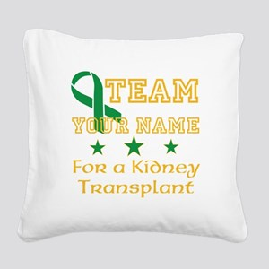 Personalize team Kidney Square Canvas Pillow