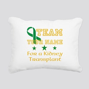 Personalize team Kidney Rectangular Canvas Pillow