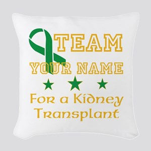 Personalize team Kidney Woven Throw Pillow