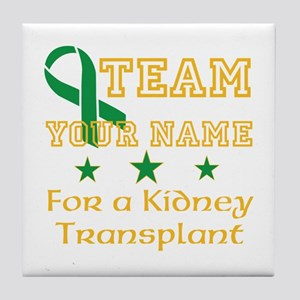 Personalize team Kidney Tile Coaster