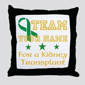 Personalize team Kidney Throw Pillow