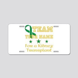 Personalize team Kidney Aluminum License Plate