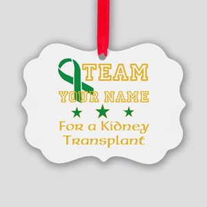 Personalize team Kidney Picture Ornament