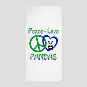 Peace Love Pandas Beach Towel