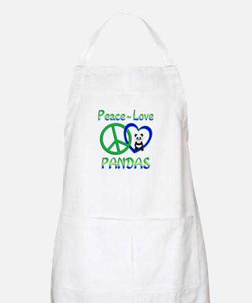 Peace Love Pandas Apron