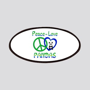 Peace Love Pandas Patches