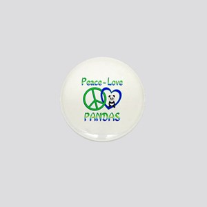 Peace Love Pandas Mini Button