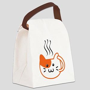 Calico Catpuccino Canvas Lunch Bag