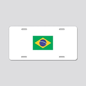 Brazilian Flag Aluminum License Plate