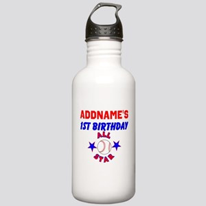 1 YR OLD BASEBALL Stainless Water Bottle 1.0L