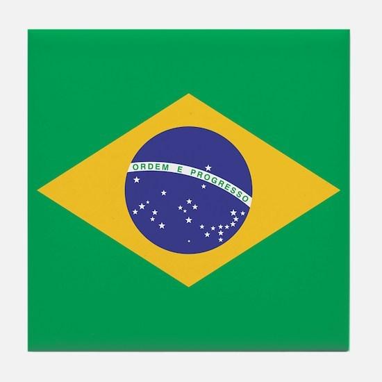 Brazilian Flag Tile Coaster