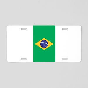 Brazilian Flag Aluminum License Plate