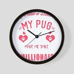Pug Dog Design Wall Clock