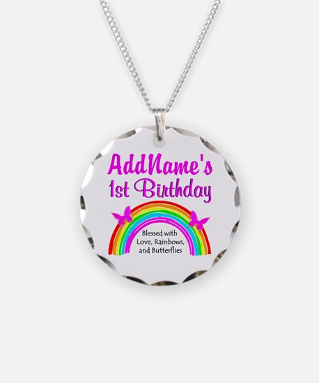 BLESSED 1 YR OLD Necklace Circle Charm