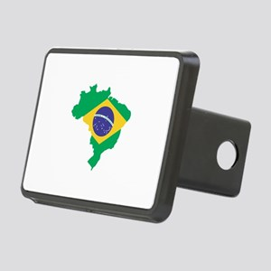 Brazilian Flag Map Hitch Cover