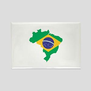 Brazilian Flag Map Magnets