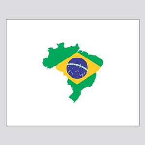 Brazilian Flag Map Posters