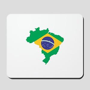 Brazilian Flag Map Mousepad