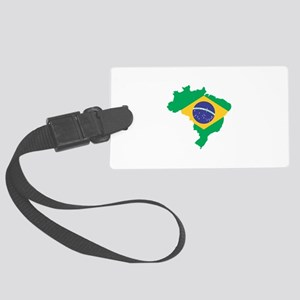 Brazilian Flag Map Luggage Tag