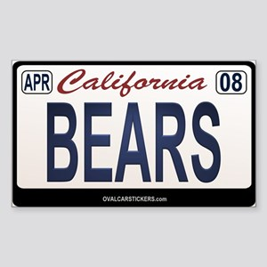 California Licanse Plate Sticker - BEARS