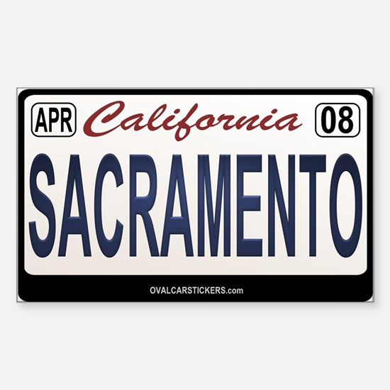 California License Plate Sticker - SACRAEMENTO