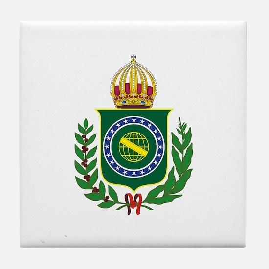 Brazilian Empire of Brazil Tile Coaster