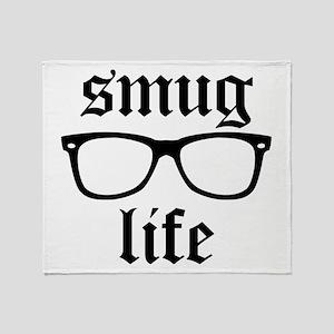 Hipster Smug Life Throw Blanket