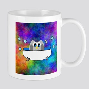 Cute Owl in Tub (Multi) Mugs