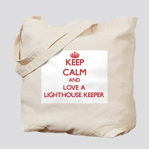 Keep Calm and Love a Lighthouse Keeper Tote Bag