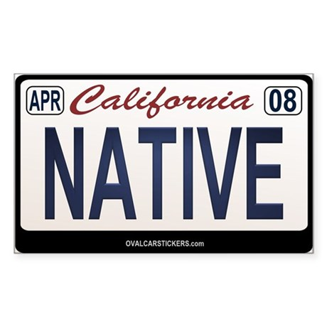 California License Plate Sticker - NATIVE