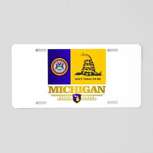 DTOM Michigan Aluminum License Plate