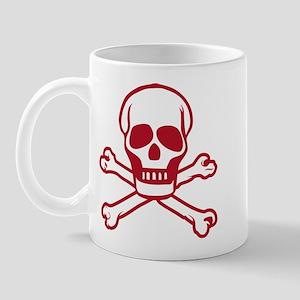 skull-outline-red Mugs