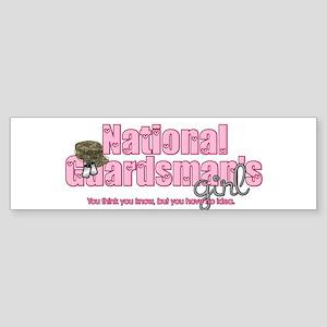 natlguardsmanssgirl-camo-hat2 Bumper Sticker