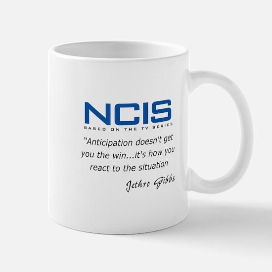 Gibbs Anticipation Quote Mug