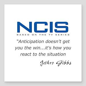 "Gibbs Anticipation Quote Square Car Magnet 3"" x 3"""