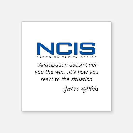 "Gibbs Anticipation Quote Square Sticker 3"" x 3"""