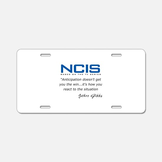 Gibbs Anticipation Quote Aluminum License Plate