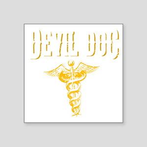 "Devil Doc Square Sticker 3"" x 3"""