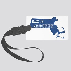 Massachusetts Large Luggage Tag