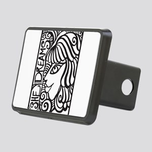 She Dreams Rectangular Hitch Cover