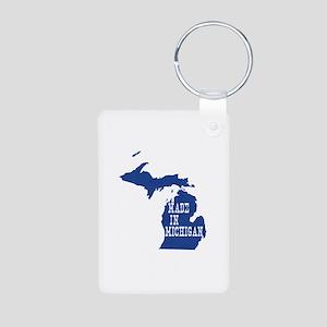 Michigan Aluminum Photo Keychain