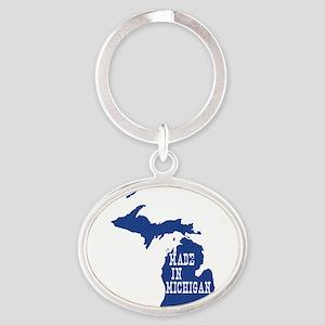 Michigan Oval Keychain