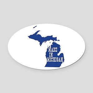 Michigan Oval Car Magnet