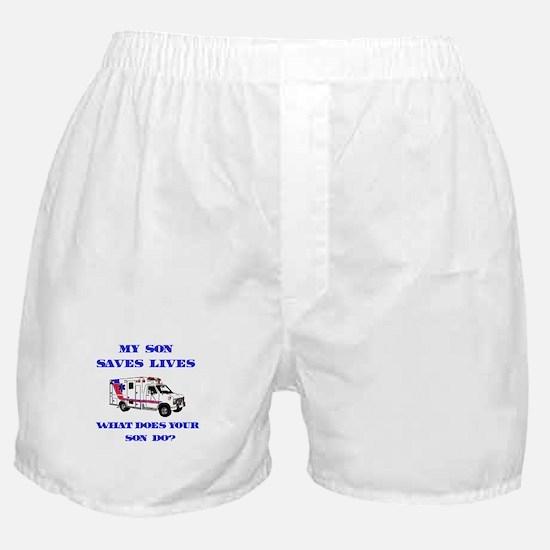 Ambulance Saves Lives-Son Boxer Shorts